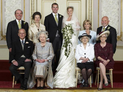 Wedding Photo Of Peter Phillips Son Princess Anne Capt Mark