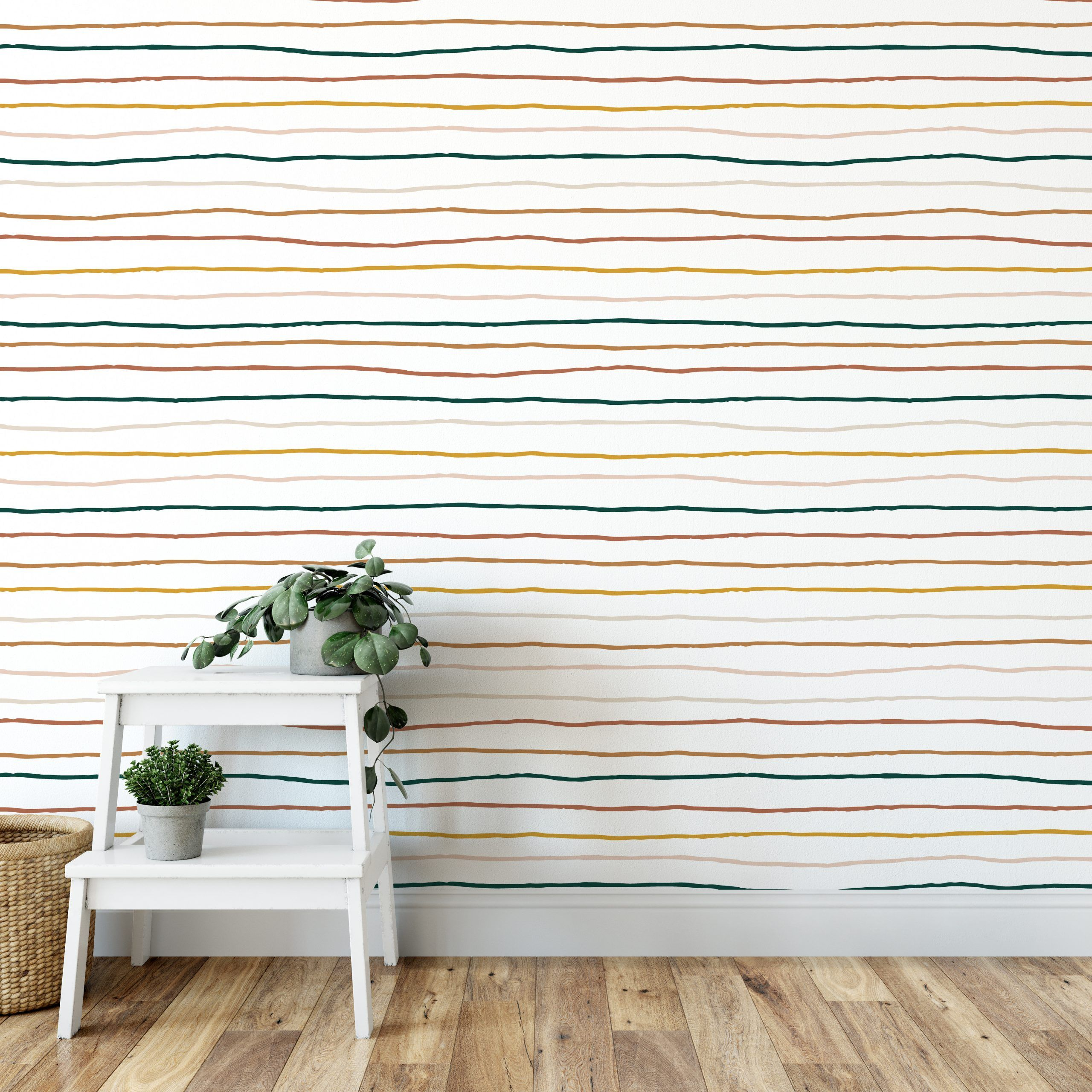 Colorful Stripes How To Install Wallpaper Striped Walls Peel And Stick Wallpaper