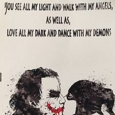Joker and Harley Quinn Inspired Quote 1 Watercolor