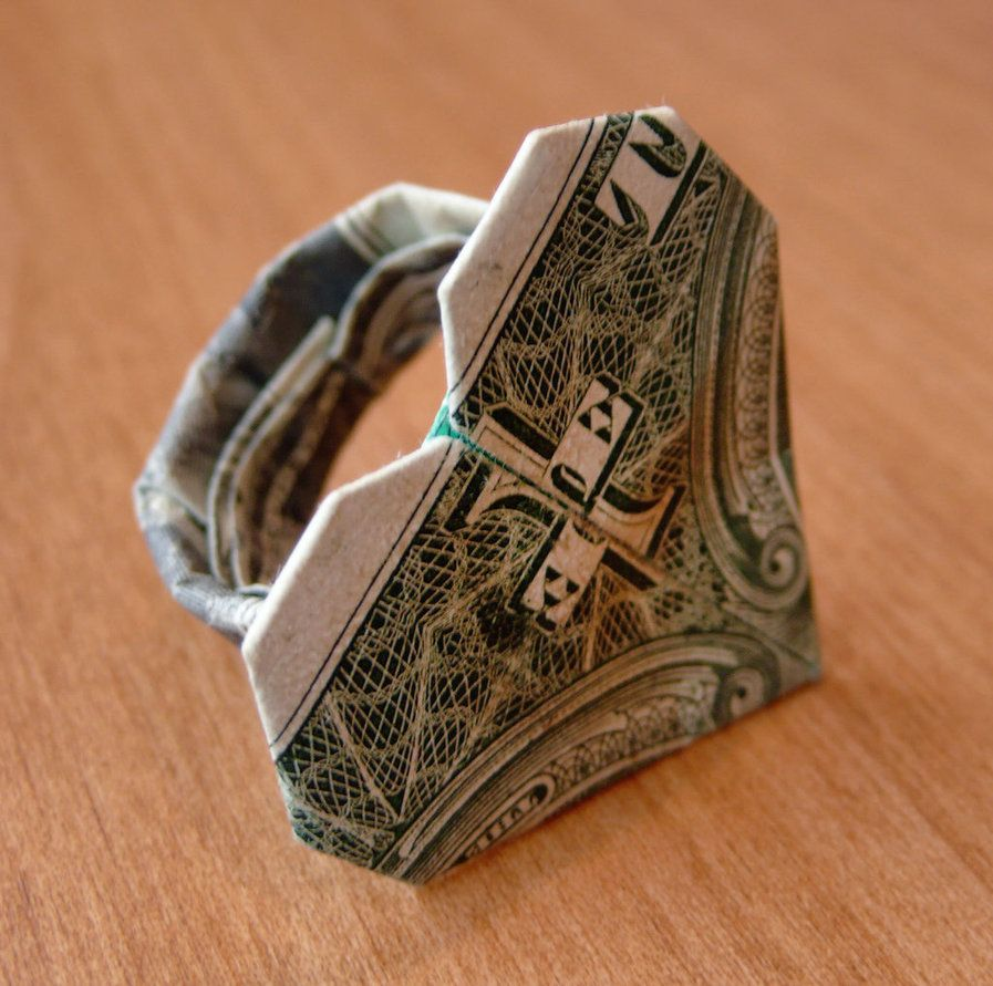 Dollar Bill Origami Heart Ring by craigfoldsfives on DeviantArt ...