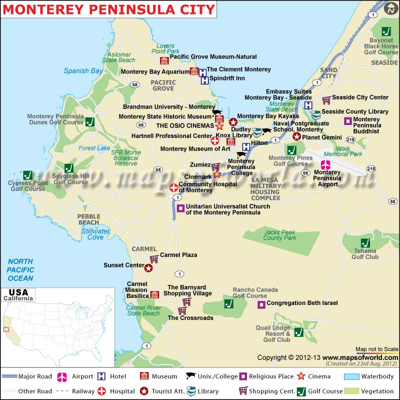 Monterey Peninsula City Map Las Vegas Trip Monterey Peninsula California Map Check flight prices and hotel availability for your visit. monterey peninsula city map las vegas