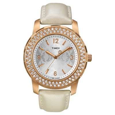 Ladies' Timex® Crystal Accent Watch (Model: T2P400ZA)