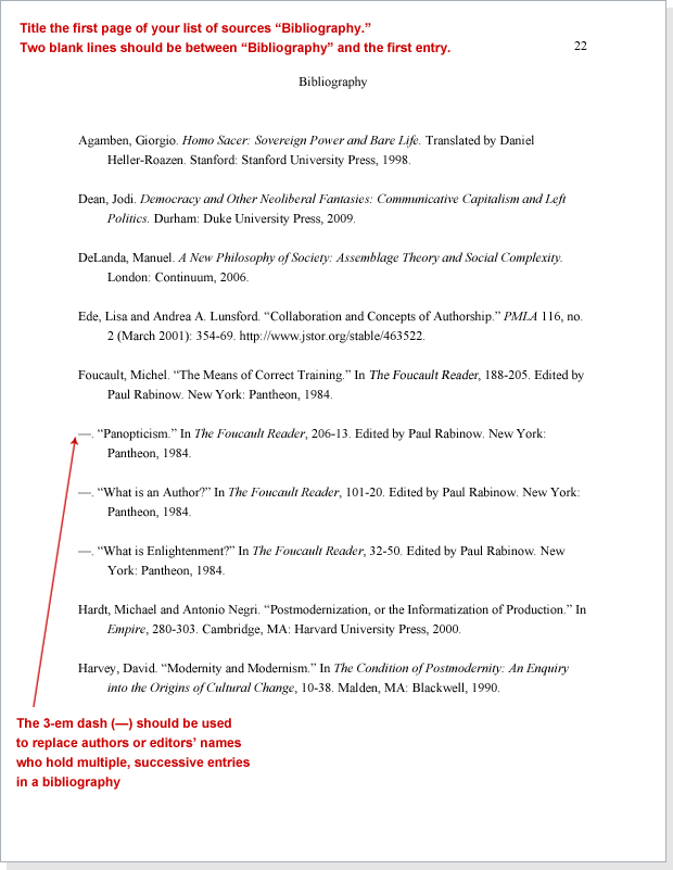 chicago style bibliography example