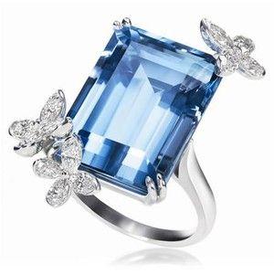 Aquamarine and Diamond Ring by Harry Winston