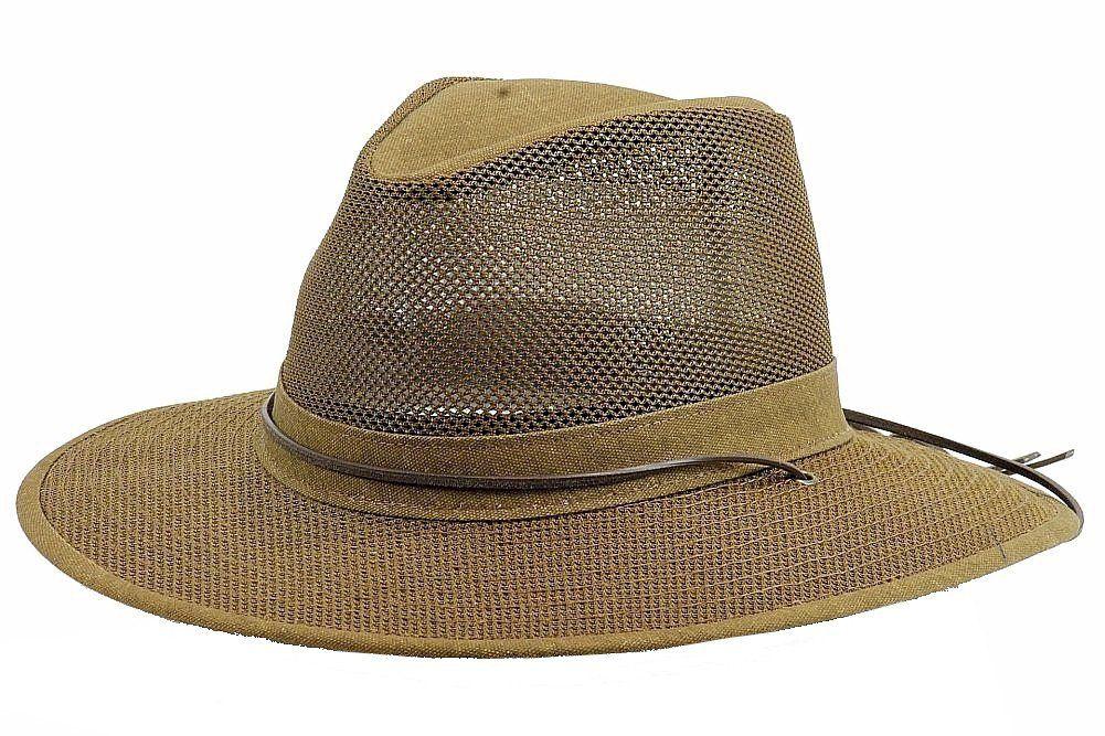 Amazon.com   Henschel Packable Mesh Aussie Breezer Hat   Clothing ... a5e3a9b4fa9e