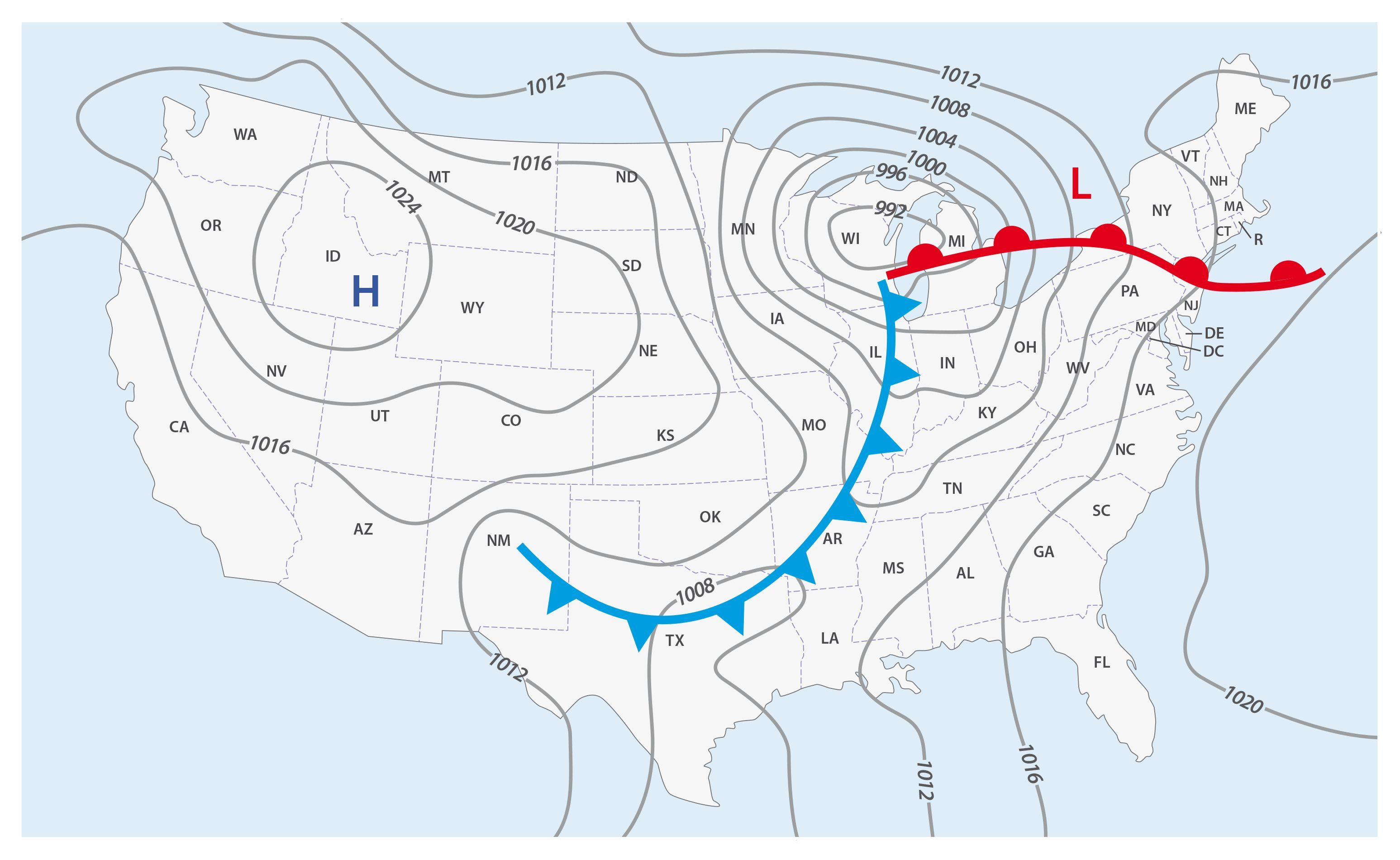 Know The Difference Between Weather Fronts Like A Meteorologist Weather Fronts Weather Map Map Symbols