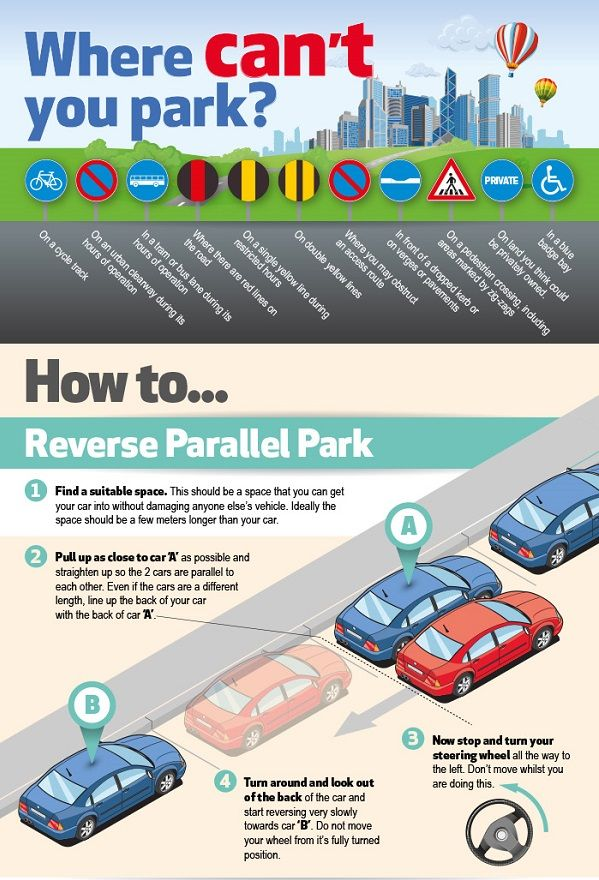 infographic how to park your car like a pro 14 shopping life hacks. Black Bedroom Furniture Sets. Home Design Ideas