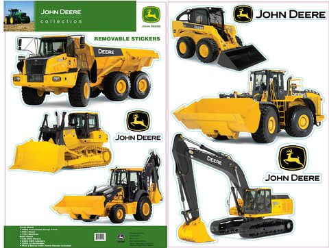 John Deere Construction Equipment Wall Decals U2013 GreenToys4u.com