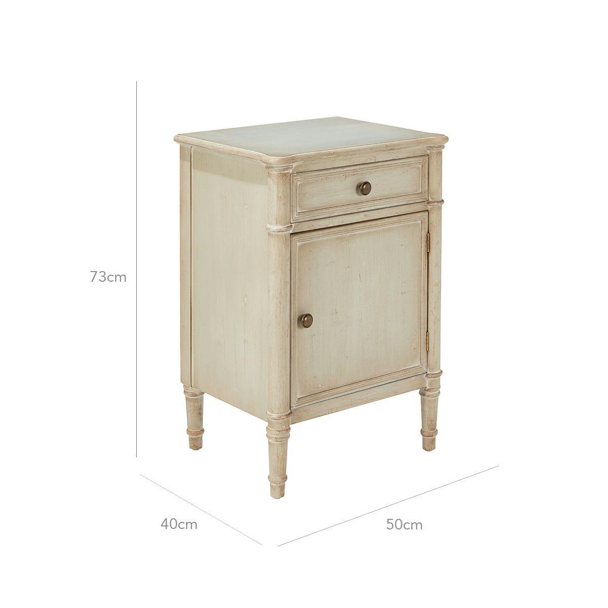 Arlian Right Hand Bedside Table In 2020 Grey Furniture Bedside