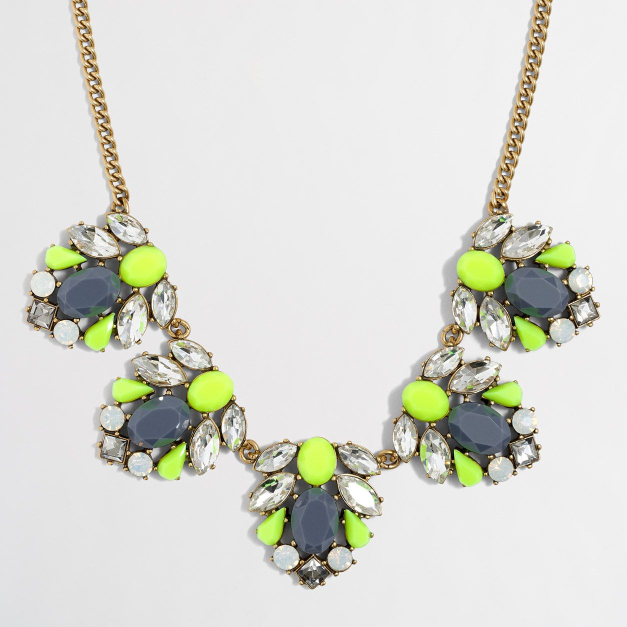 Factory mixed stone clusters necklace necklaces jcrew factory