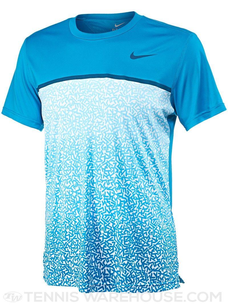 Nike Men s Spring Challenger Printed Tennis Crew (Blue) Nike Clothes Mens da13b9987ce8