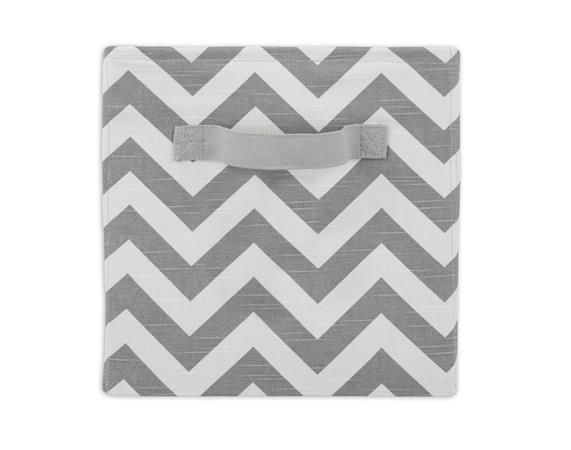 White And Grey Zig Zag Storage Bin With Handle From Brite Ideas Living    Shop At
