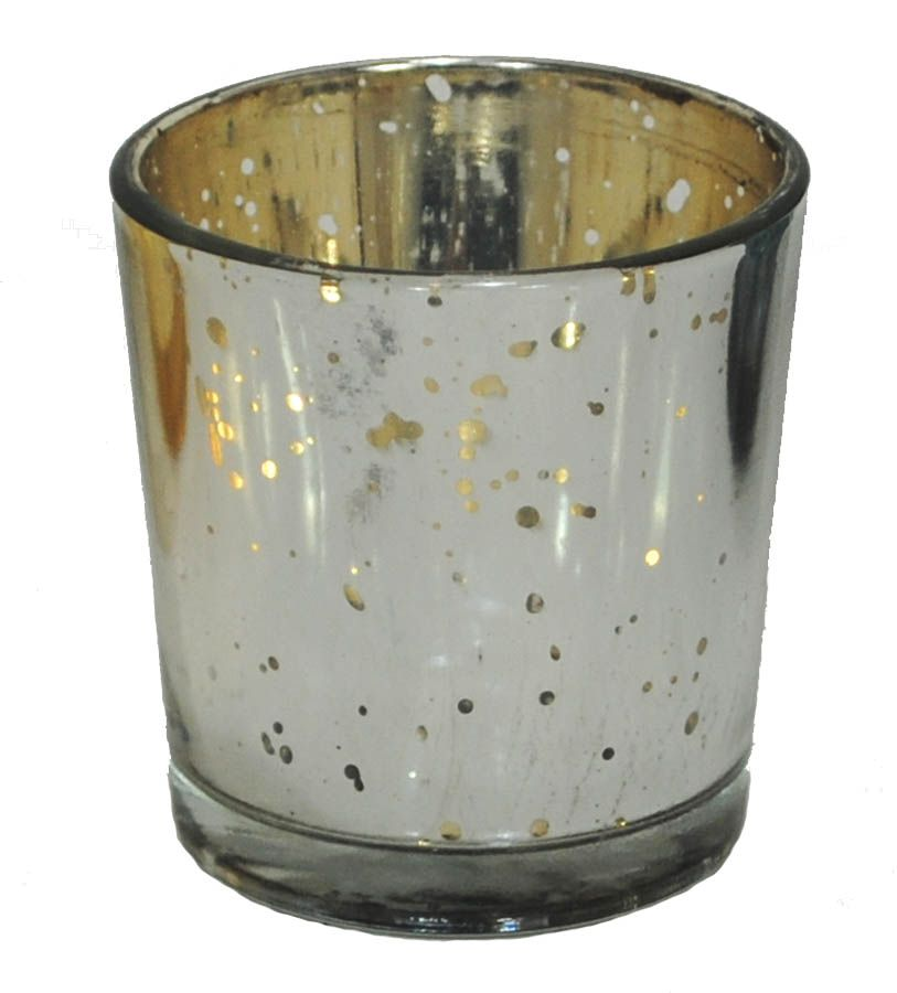 "Antique Silver Plated Glass Votive Holders 2.5"" Tall by 2.25"" Diameter ONLY $9.99 for 6 Votive Holders floral supplies wedding decorations decor winter christmas holiday centerpiece candles  http://www.afloral.com/Floral-Supplies/Candles-and-Lighting/Antique-Silver-Plated-Glass-Votive-Holder-Set-of-6"
