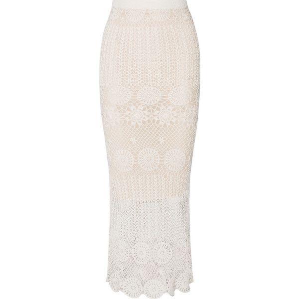 Alice   Olivia Griselda crocheted linen-blend maxi skirt ($535 ...