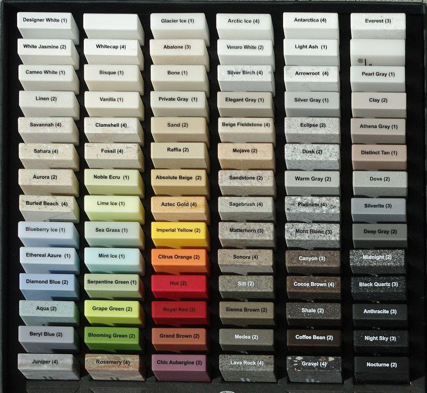 Farben für CorianOberflächen Musterküchen