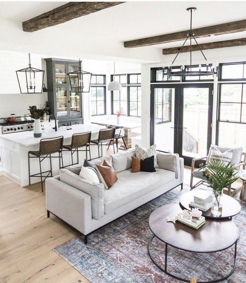 44 Inspiring Modern Open Living Room Design Ideas Trendehouse In 2020 Open Living Room Design Modern Minimalist Living Room Farm House Living Room