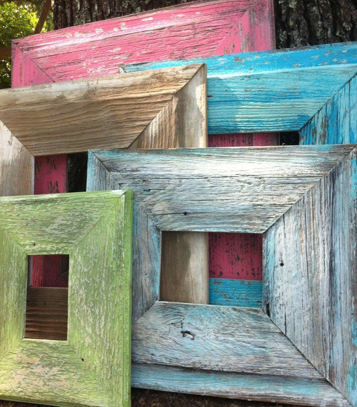 Old Barn wood picture frame, shabby chic 8 x 10 picture frame from ...