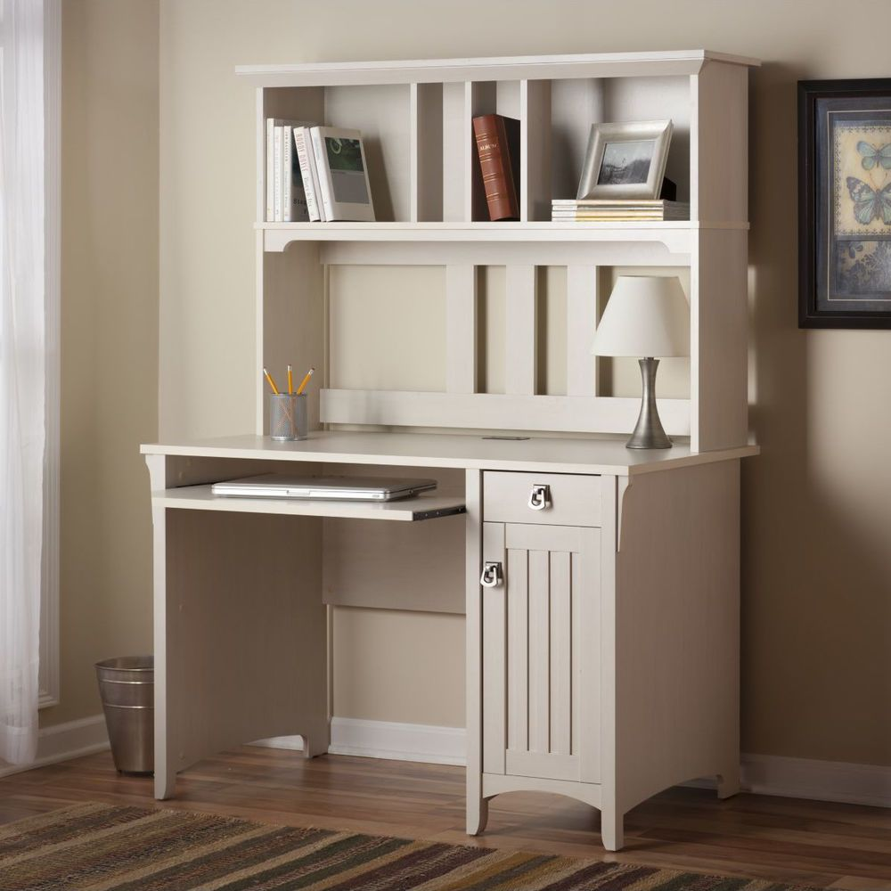 Phenomenal White Computer Desk With Hutch Executive Workstation Wood Home Interior And Landscaping Synyenasavecom
