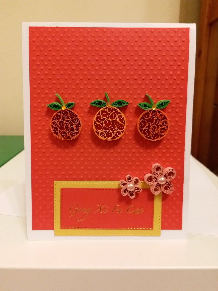 Chinese New Year Card Creative Birthday Cards Chinese New Year Card Quilling Cards