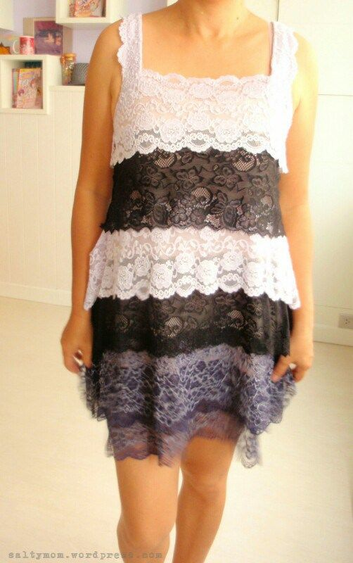 diy lacy tiered cocktail dress front2