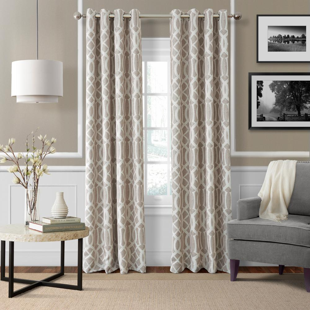 Elrene Harper Linen Blackout Window Curtain Panel