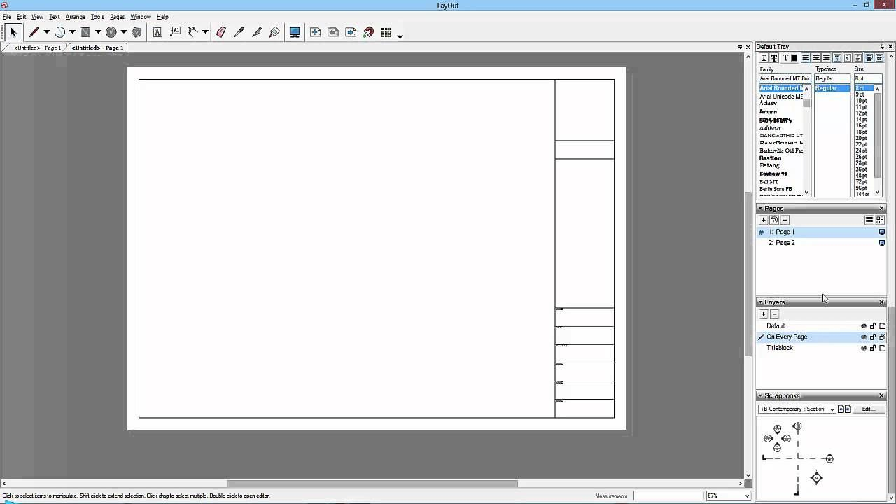 Sketchup To Layout 15 Saving The Template Sketchup Resources