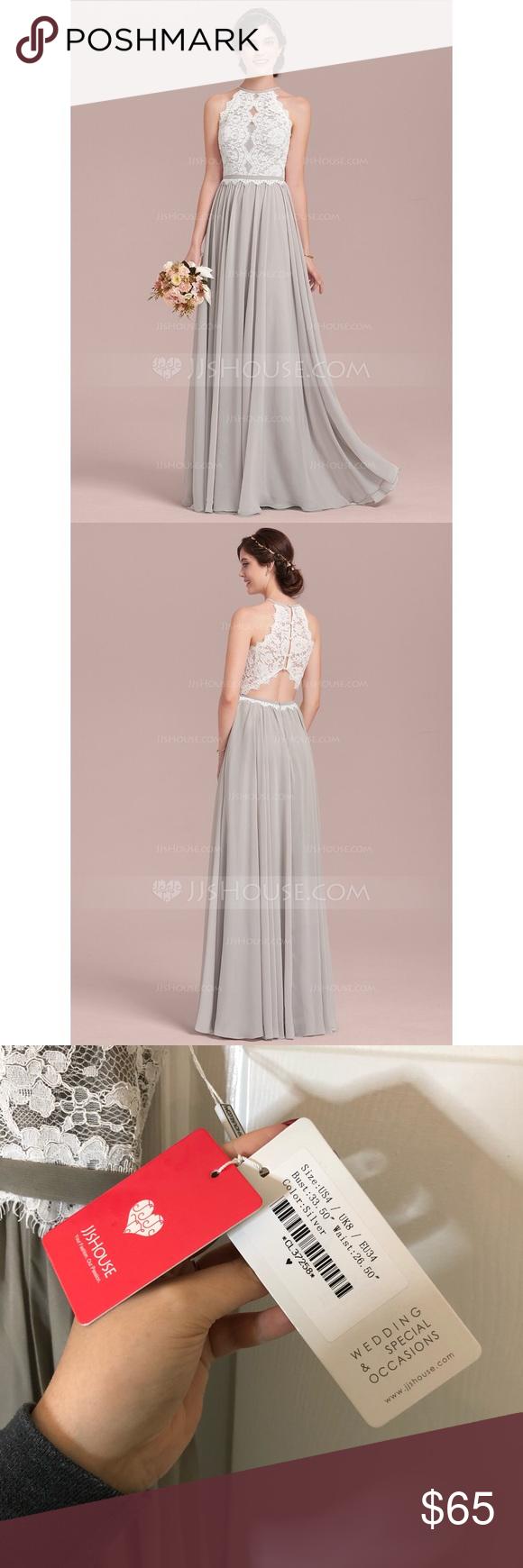 Jjshouse Silver And White Long Formal Dress Winter Wedding Guest Dress Trendy Dresses Formal Formal Dresses Long [ 1740 x 580 Pixel ]