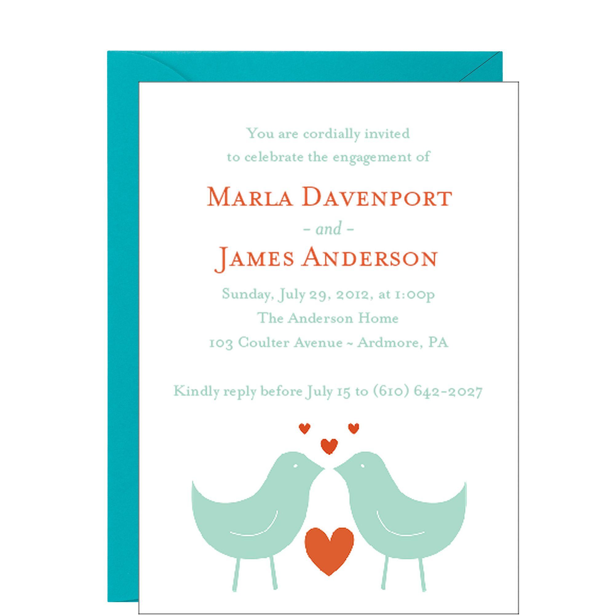Love Birds Engagement Party Invitation | Wedding | Pinterest ...