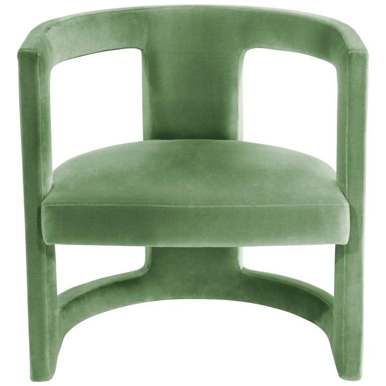 Rukay Armchair In Cotton Velvet And Fully Upholstered Legs Bold Armchair Armchair Upholstered Chairs