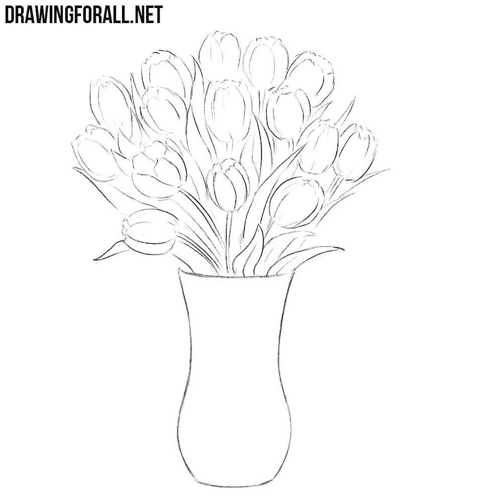 10 Mesmerising Drawing Flowers Mandala Ideas Flower Drawing Flower Vase Drawing Easy Flower Drawings