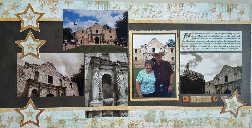 The Alamo Photo Layouts Travel Scrapbook Alamo