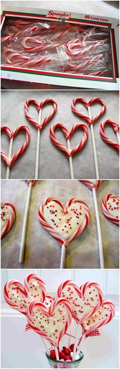 Cute idea for Christmas or valentines day! I love these!!