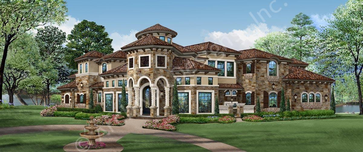 San Gimignano House Plan Mediterranean House