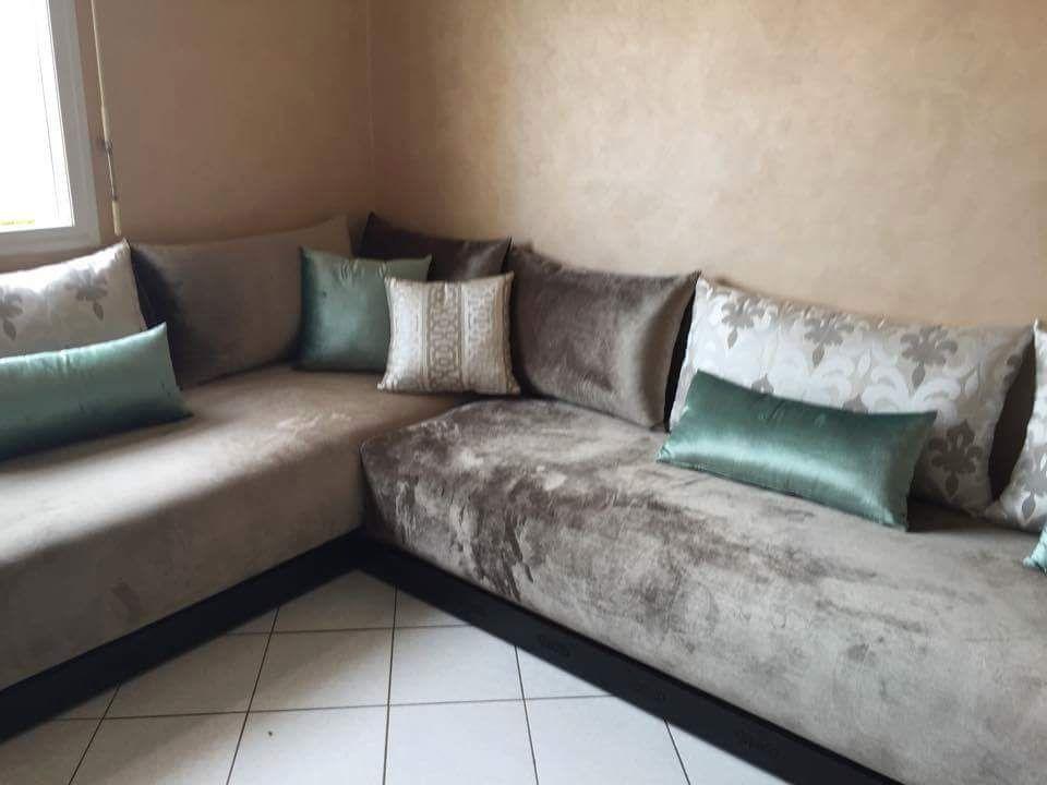 Vert eau | Décoration salon séjour, Salon maroc et Salon ...