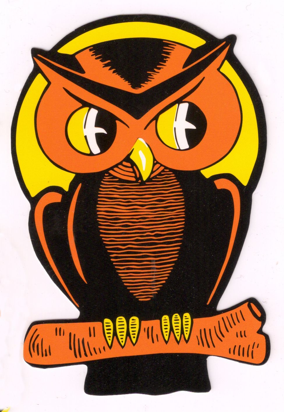 Retro Owl Decoration Reminds Me Of My Childhood Vintage Halloween Decorations Vintage Halloween Images Retro Halloween