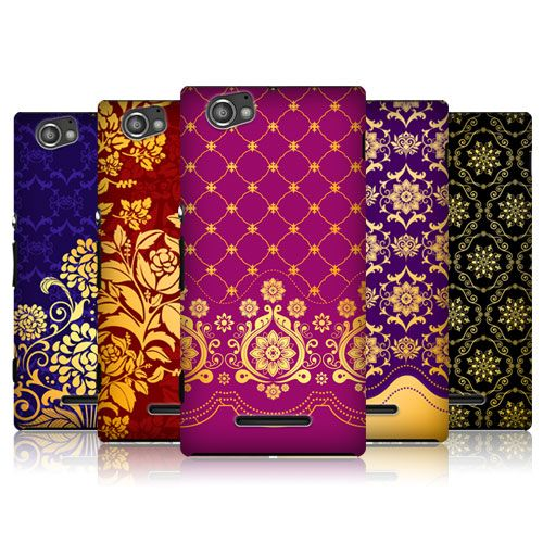 HEAD CASE DESIGNS MODERN BAROQUE BACK CASE COVER FOR SONY XPERIA M C1905 C1904