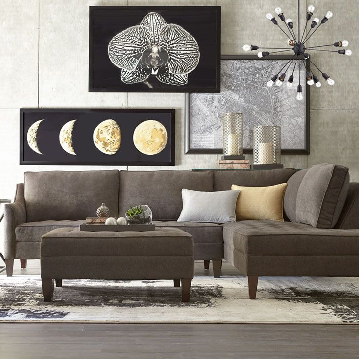 Enjoy The Havertys Parker Sectional With Its Modern Style And Inspiration Living Room Furniture Designs 2018
