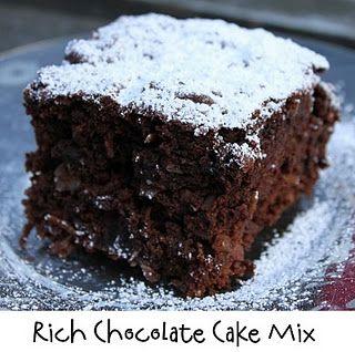 Rich Chocolate Cake Mix!