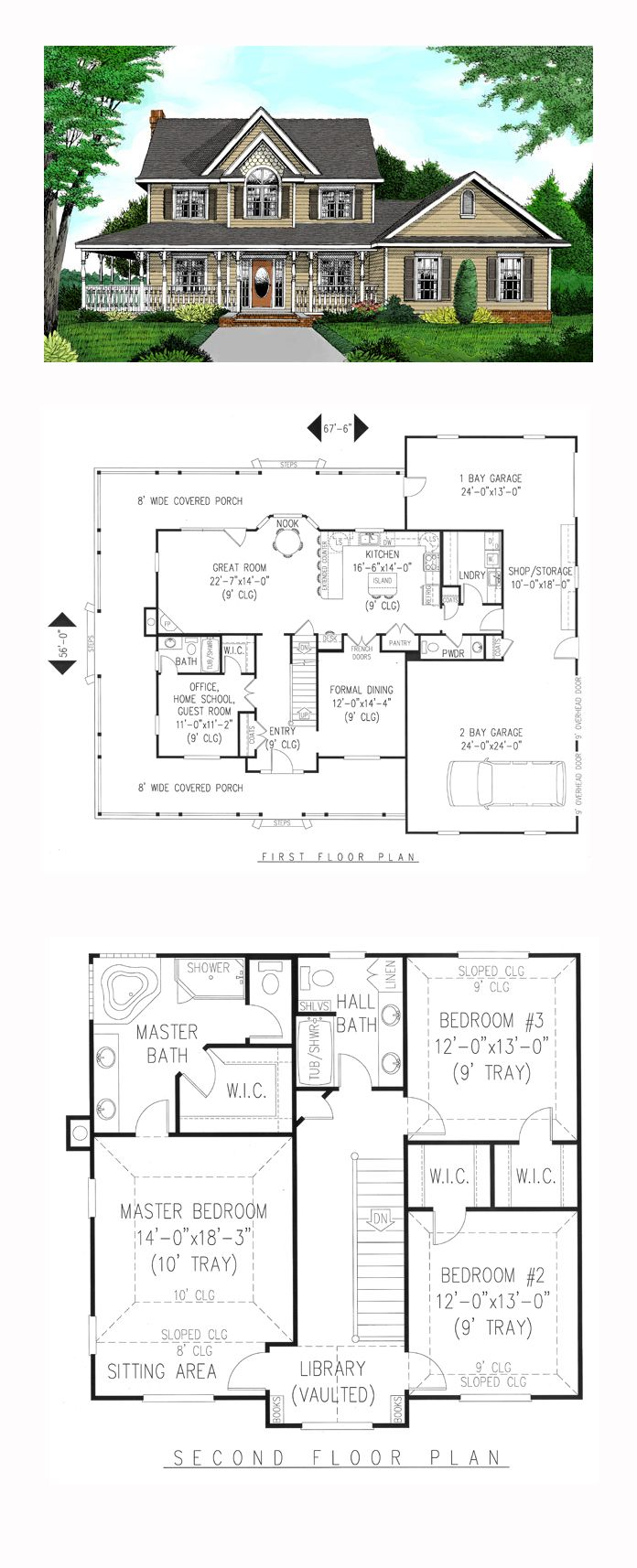 Turn garage into master bedroom  Farmhouse Style COOL House Plan ID chp  Total Living Area