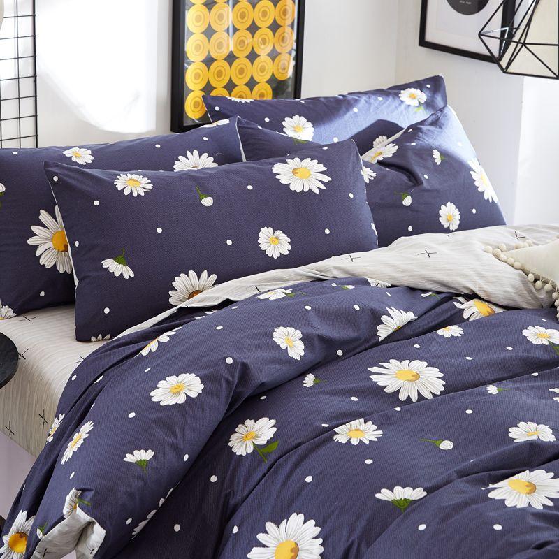 Bedding Set Queen Size Floral Duvet Cover Bed Sheet Pillow Cover Flower Duvet Cotton Sheet Sets Twin Size Ch Queen Bedding Sets Floral Duvet Cover Duvet Covers