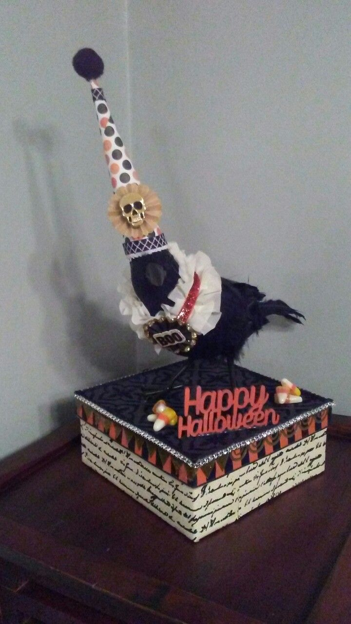 4226eed9798cb Halloween crow box If you like this check out my esty shop  Crowswithhats 🎃
