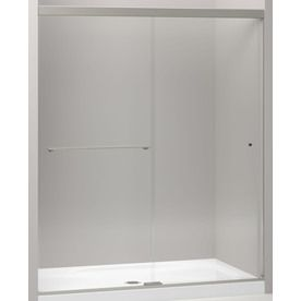 Kohler Revel 56 625 In To 59 625 In Frameless Anodized Brushed