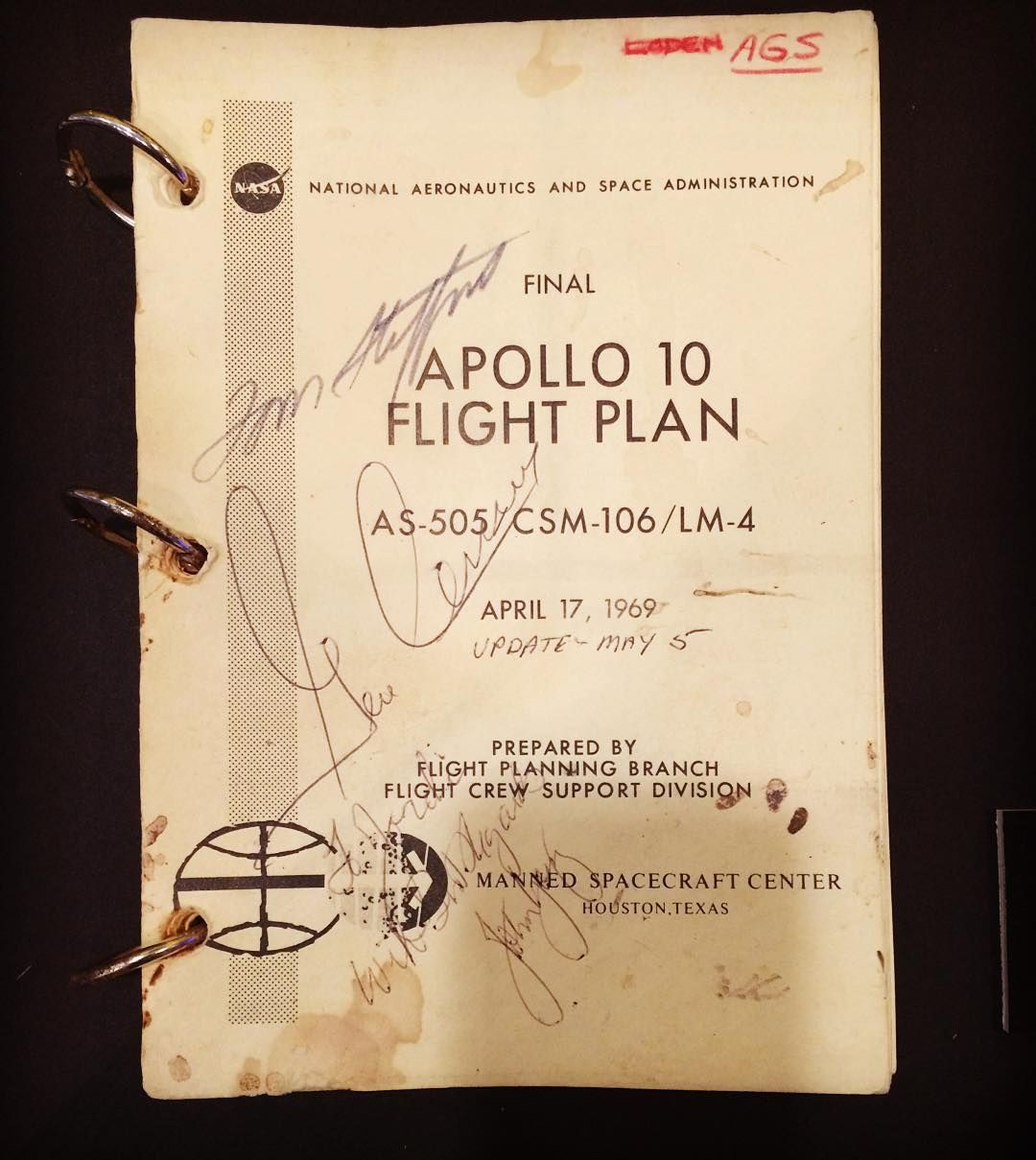 El plan de vuelo del APOLO 10 - 1969 @nasa