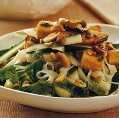Vietnamese Tofu and Noodle Salad #Recipe, #stepbystep