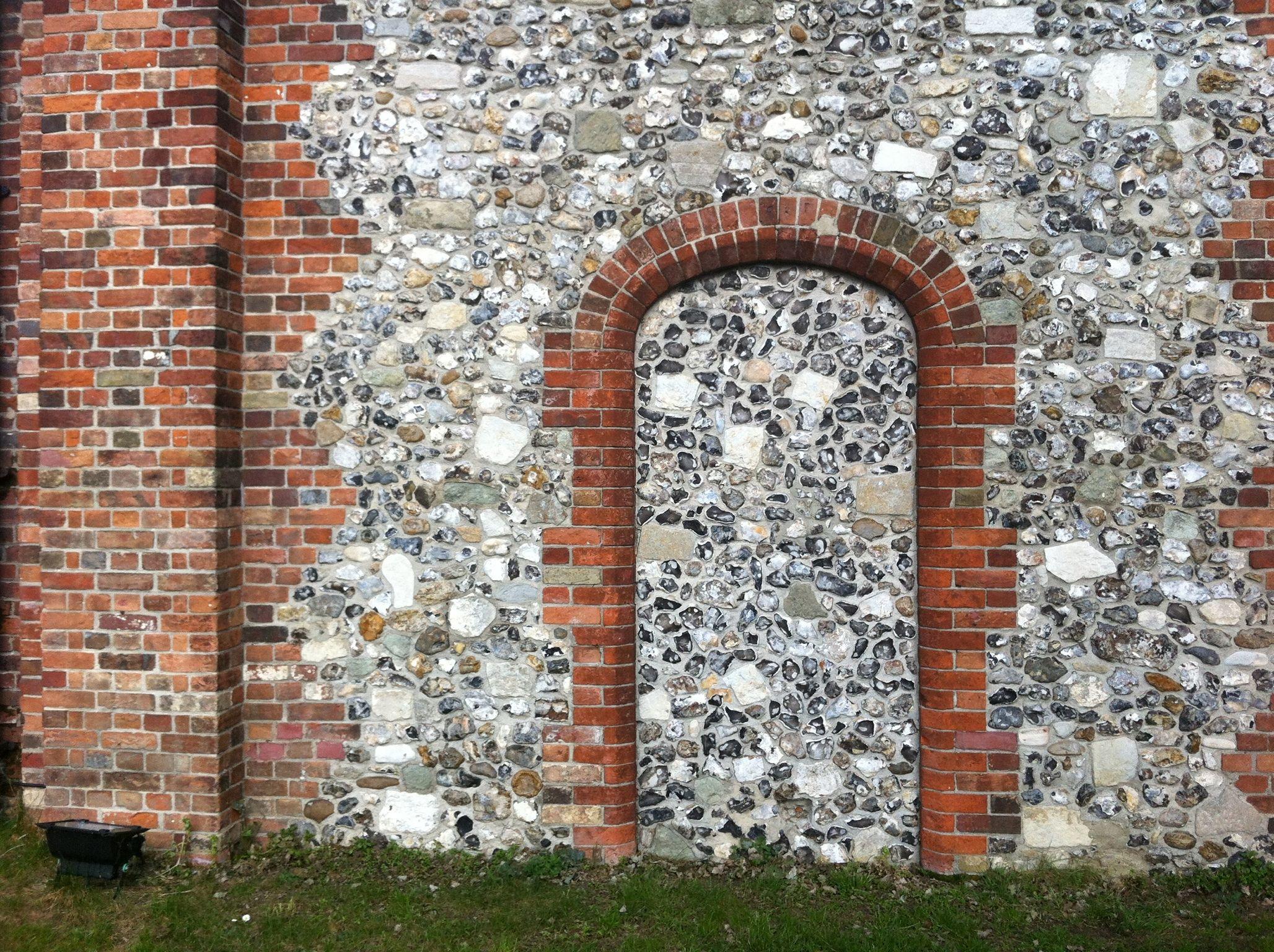 Brick Doorway In Flint Wall Brick Images Brickwork Brick