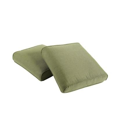 Hampton Bay Pembrey Replacement Outdoor Ottoman Cushion (2 Pack) HD14225    The Home Depot