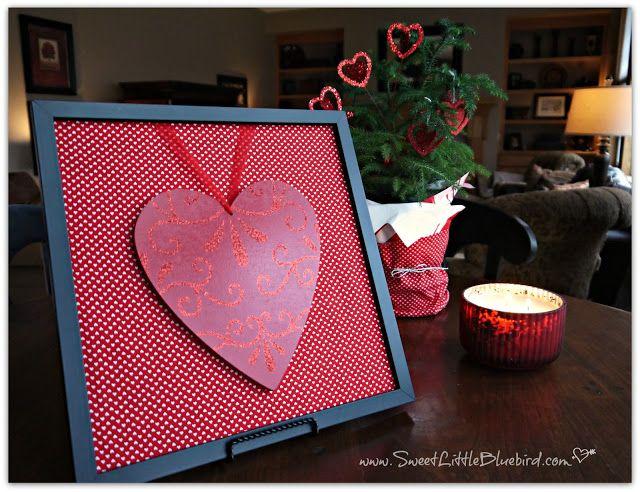 6 SIMPLE DIY Framed Valentine Decoration Ideas ~ Hearts and Keys