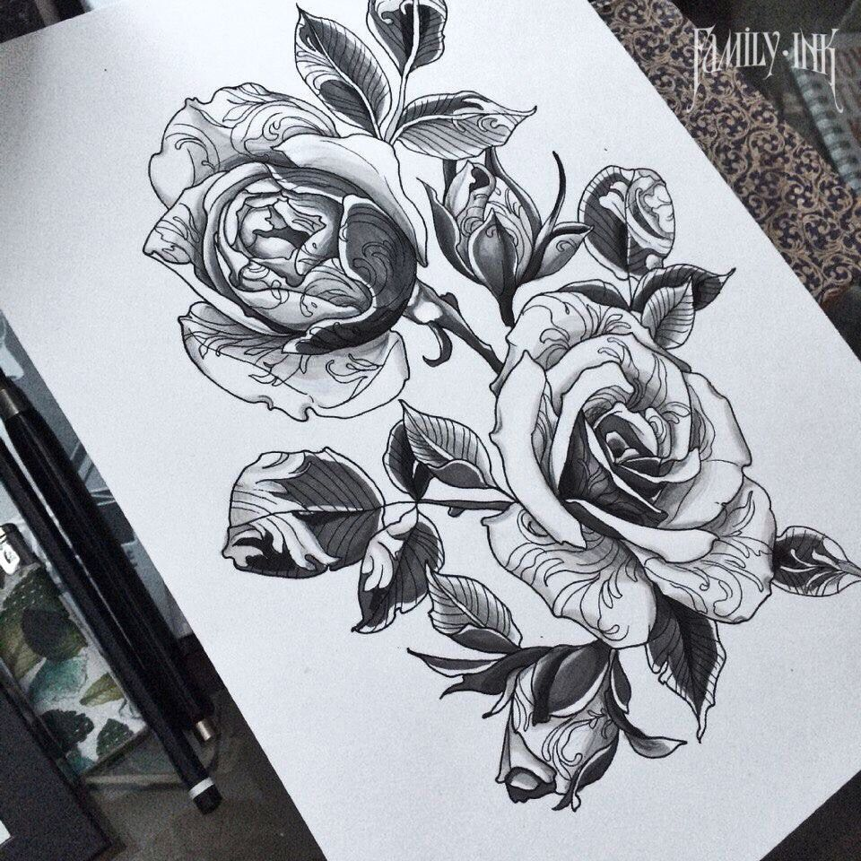 rose tattoo sketch by family ink lacetattoo flowertattoo rosetattoo blackworkerssubmission. Black Bedroom Furniture Sets. Home Design Ideas