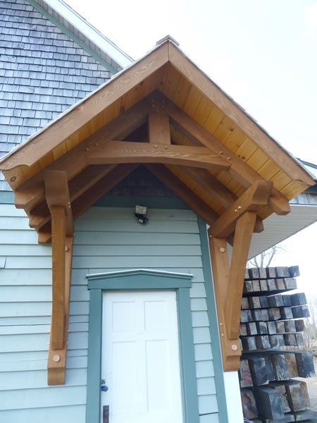 Timber frame roof overhang google search timber for Porch door and frame
