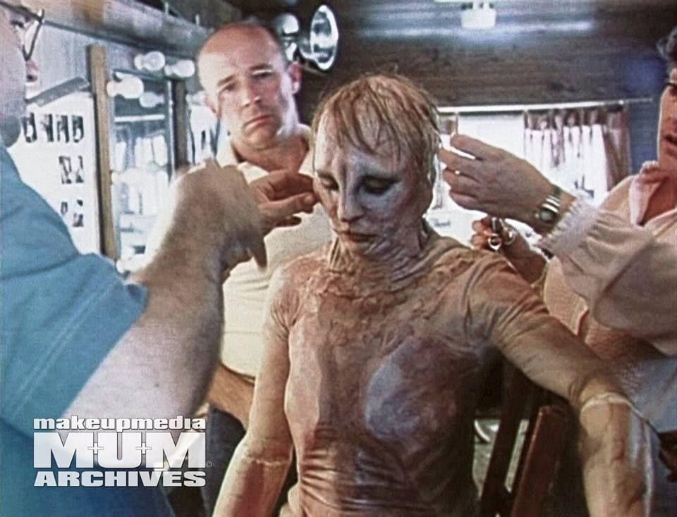 Tom and Ellis Burman fine tune the transformation suit for Nastassja ...